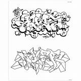 Graffiti Colouring Coloring Urban Books Spraydaily Paper sketch template