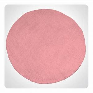 tapis rond rose diam 120cm laurette With tapis rond rose