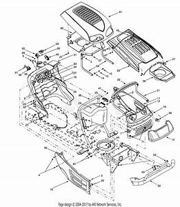 Mtd 14av808p016  2001  Parts Diagram For Hood  U0026 Electrical