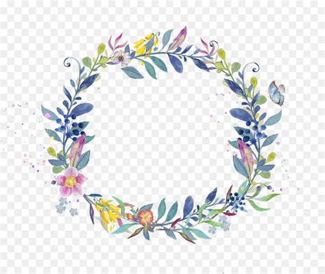 wreath watercolor painting clip art leaf garland png