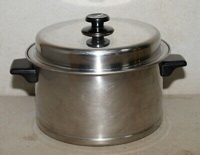 lifetime waterless cookware  quart stock pot stainless steel vintage cooking  ebay