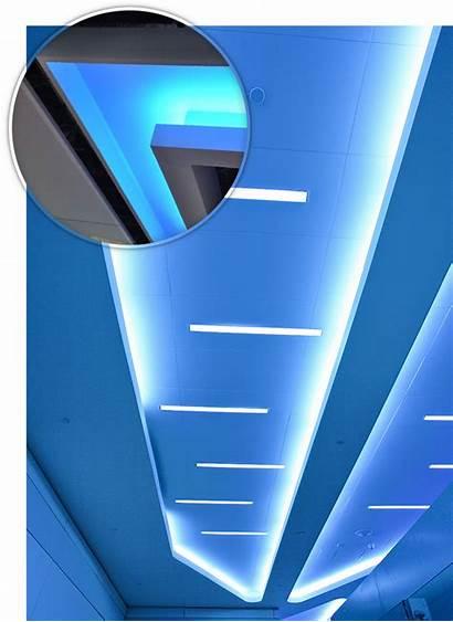 Led Plasterboard Strips Ceiling Cut 3d Service