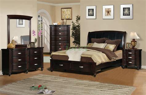 platform bedroom furniture set  leather headboard