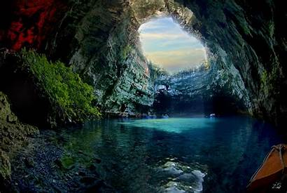 Cave Melissani 4k Caves Wallpapers Background Greece