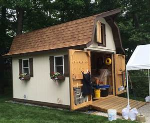 tall gambrel barn style sheds With barn style garden sheds