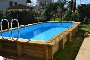 Piscine Semi Enterré Bois : les piscines en bois en photo ~ Premium-room.com Idées de Décoration