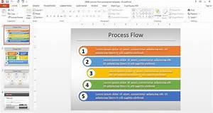 Simple Process Flow Template For Powerpoint  Flow  Diagram