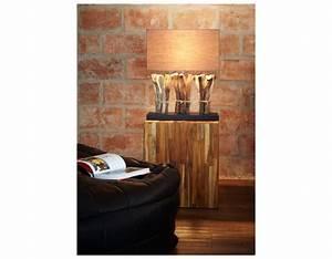 Lampe Design Bois : lampe de salon originale en bois recycl pour une d co colo ~ Teatrodelosmanantiales.com Idées de Décoration