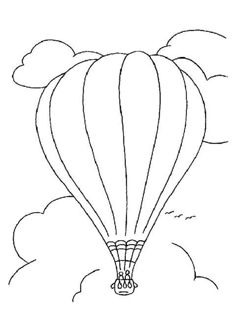 simple hot air balloon coloring pages coloring sky