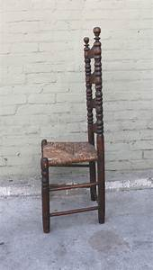 Early 18th Century New England Ladder Back Side Chair at
