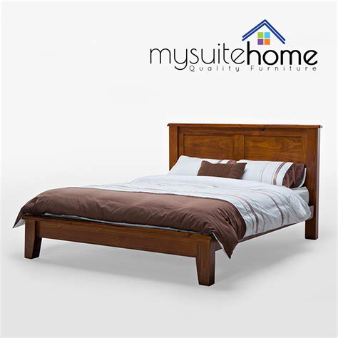 julian brand  nz solid pine timber wood queen bed frame antique walnut slats ebay