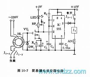 555 simple electric leakage protector circuit 555 With delay circuit with quotwatchdogquot composed of 555 555circuit circuit