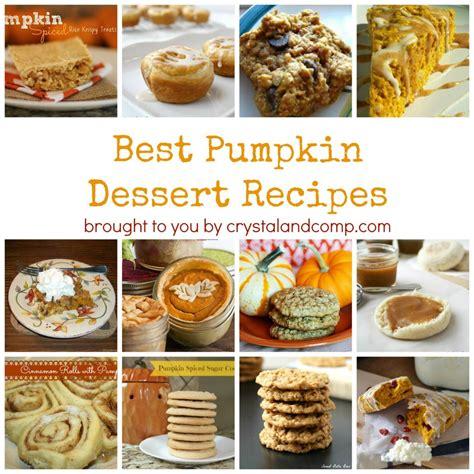 best pumpkin dessert recipes best pumpkin dessert recipes