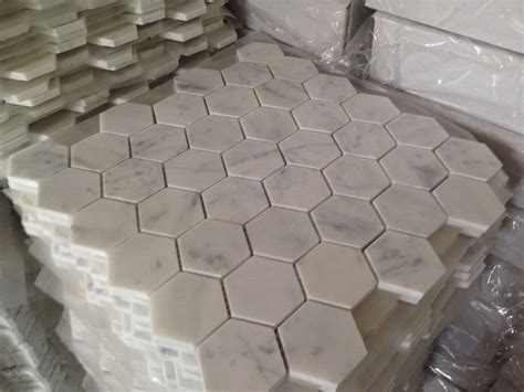 octagon marble floor tile carrara white marble octagon mosaic tile gray dots 2 inch polished buy marble octagon mosaic