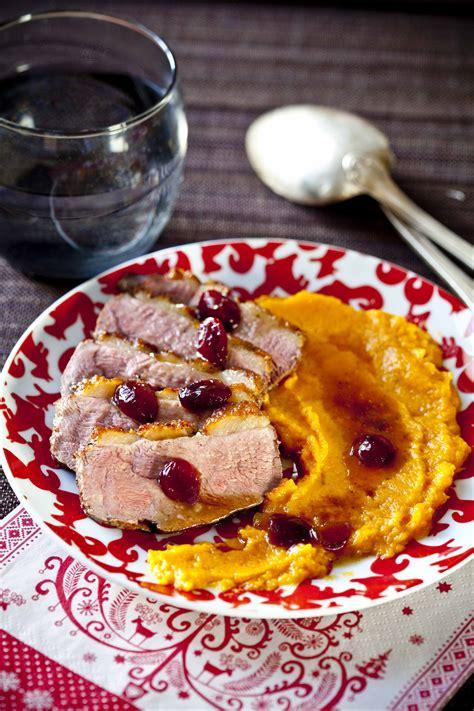 comment cuisiner les patates douces ton dîner de noël magret de canard aux cranberries purée