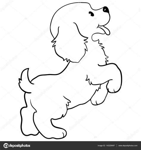 Domme Hond Kleurplaat by Hond Contour Vector Hond Kleurplaat Ge 239 Soleerd Op
