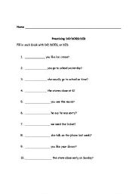english worksheets dodoesdid worksheet