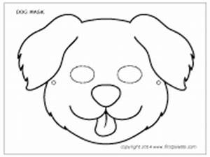 free coloring pages of dog face mask With dog mask template for kids
