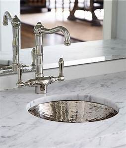 round hammered metal bar sink with vintage faucet With best brand of paint for kitchen cabinets with hammered metal wall art