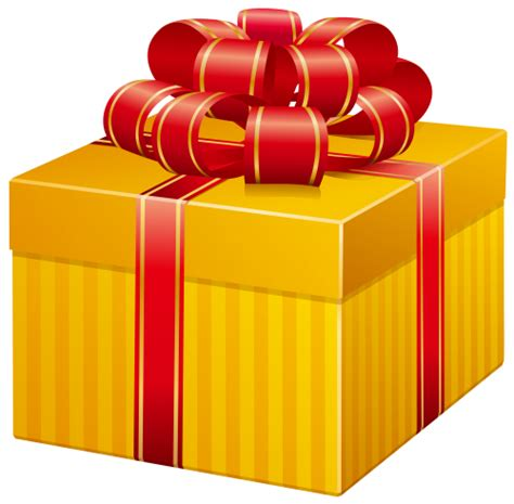 yellow soft christmas gift yellow present box png clip clipart clip box and gift
