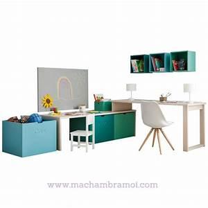 Table Enfant Avec Rangement : bureau enfant et 7 box de rangement asoral ma chambramoi ~ Melissatoandfro.com Idées de Décoration
