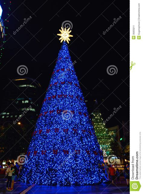 blue tree editorial photo image of decoration