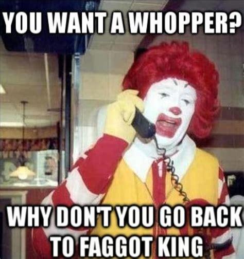 Funny Ronald Mcdonald Memes - image 761599 ronald mcdonald vs the burger king know your meme