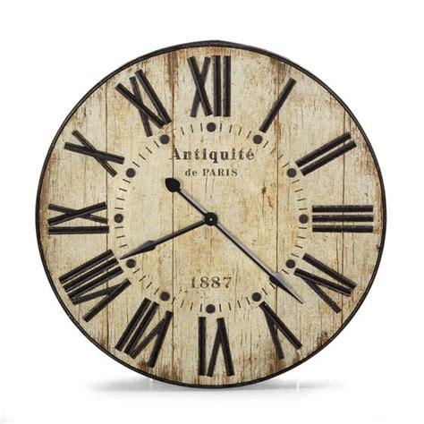 grosse horloge murale ancienne horloge murale 90cm de diam 232 tre au style industriel antiquit 233 les horloges horloges et