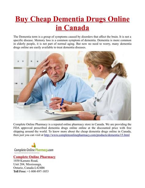 Ppt Buy Cheap Dementia Drugs Online In Canada Powerpoint