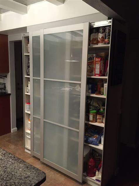 Storage Cupboards Ikea by Ikea Bookcase Hack With Pax Doors New Kitchen Pantry