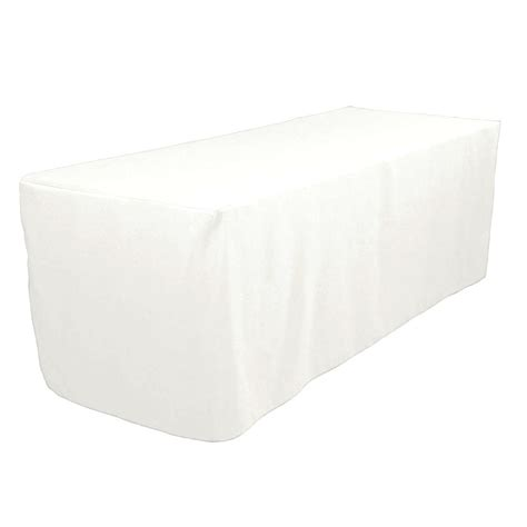 tablecloth for 8 foot table 8 39 ft fitted polyester tablecloth trade show booths