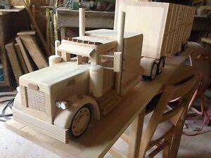hand  peterbilt  flat top  cattle trailer ls wood