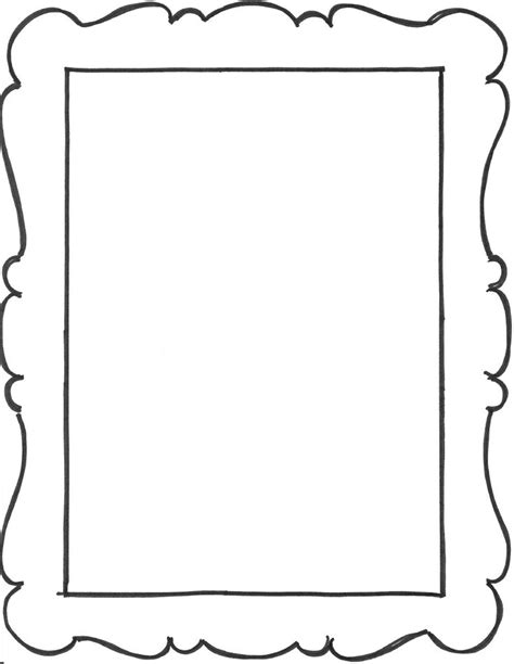 picture frame template templates clipart blank frame pencil and in color templates clipart blank frame