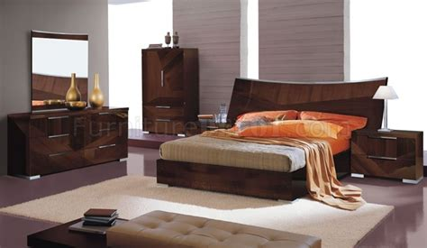 High Bed Set by Cherry High Gloss Bedroom Set W Oversized Headboard Cindi Bed