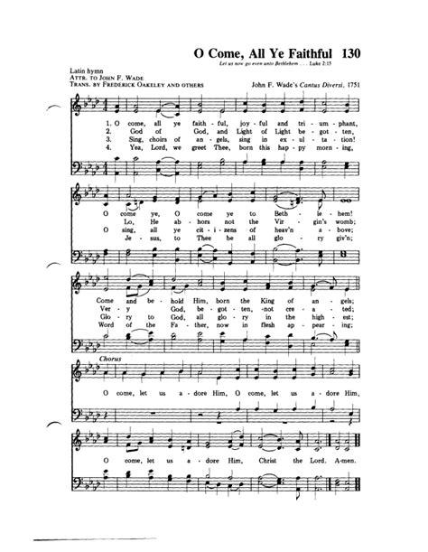 O Come All Ye Faithful Hymn
