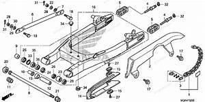 Honda Motorcycle 2010 Oem Parts Diagram For Swingarm