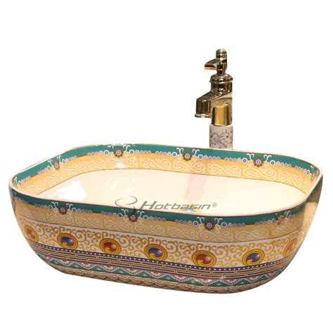 Colorful Bathroom Sinks by Unique Vintage Colorful Rectangular Uponmount Ceramic