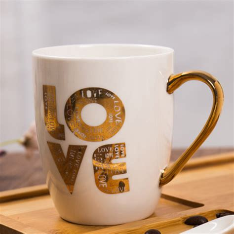 Get best deals for coffee cup mug set of 6 & coffee glass mugs today! Buy Love Printed White Mug Online In India   BonZeal.com