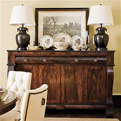How To Decorate A Credenza by Decorating The Sideboard Ruby