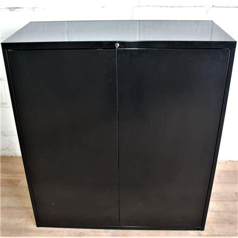 Black Office Cupboard by Black Metal Storage Unit Cupboard 5054 Allard Office