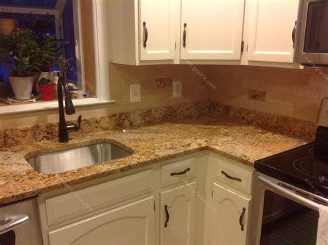 Kitchen Countertop Backsplash by Mac S Before After Solarius Granite Countertop