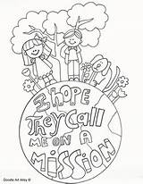 Missionary Lds Primary Clipart Coloring Clip Mission Missionaries Boy Call Hope sketch template