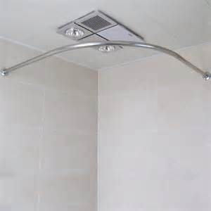 Shower Curtain Rod Corner by Curved Stainless Steel Retractable Shower Curtain Rod