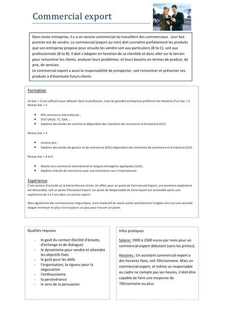 les chambres de commerce et d industrie fiche métier commercial export pdf par laurine fichier pdf