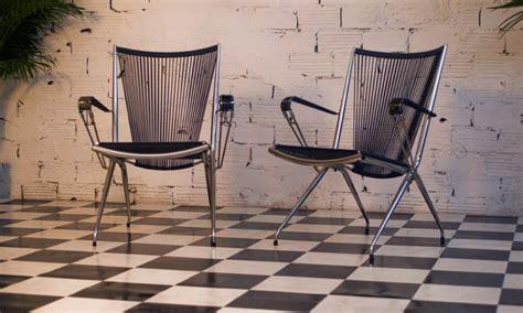 fauteuil vintage m 233 tal inox scoubidou noir plastic