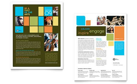 arts council education brochure template design