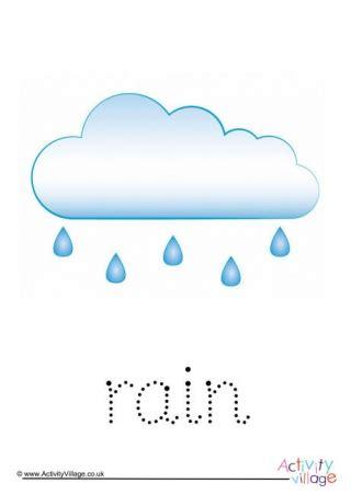 rain handwriting worksheet