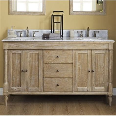"""Rustic Chic 60"""" Traditional Double Sink Bathroom Vanity by"""