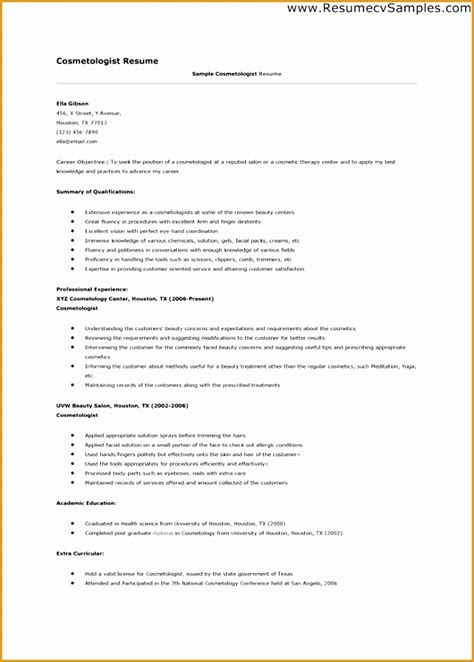 Esthetician Resume Templates by 9 Esthetician Resume Template Free Sles Exles