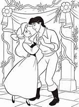 Coloring Ariel Disney Prince Princess Eric Characters Walt Fanpop sketch template